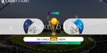 India vs Sri Lanka Match 44 July 6 Live Score and Live Streaming