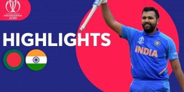 India vs Bangladesh Highlights Match 40 ICC World Cup – July 1 2019