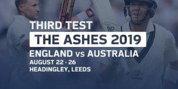 England vs Australia 3rd Test Aug 21, 2019 Live Score and Live Streaming