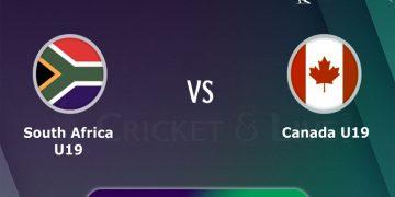 South Africa U19 vs Canada U19, 12th Match, Group D Live Cricket Score | SA U19 vs CAN U19 Live Streaming